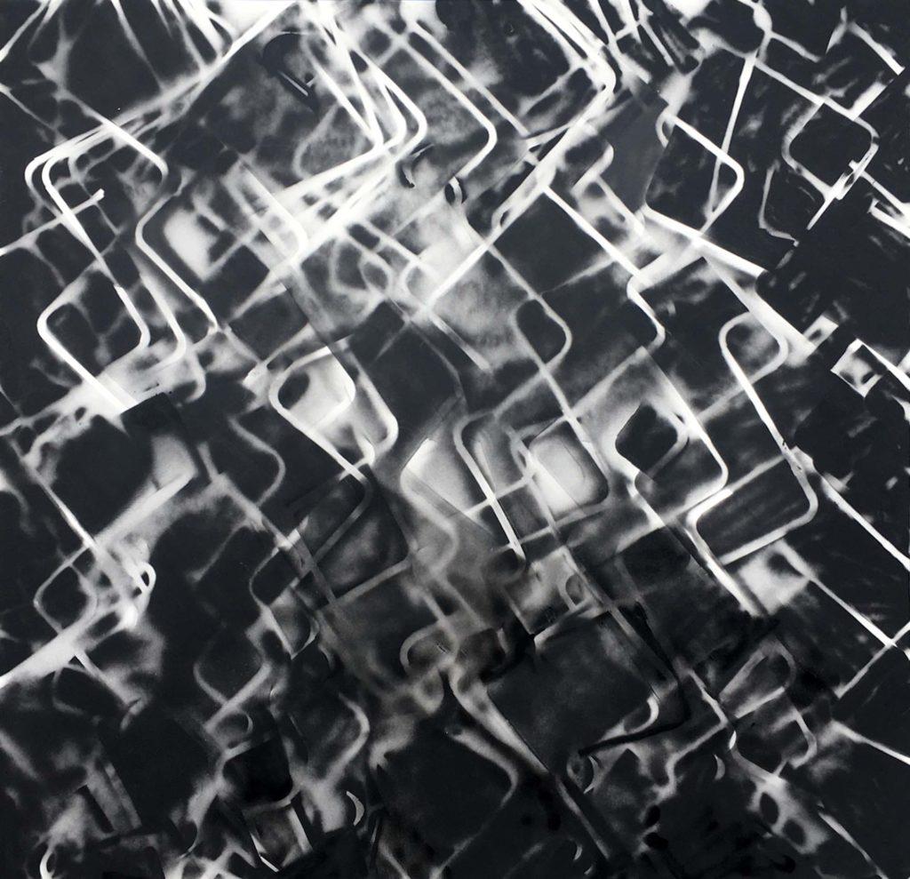 Lynne Golob Gelfman, Sci-fi Marble 1, 2019, Acrylic on canvas, 96 x 96 in